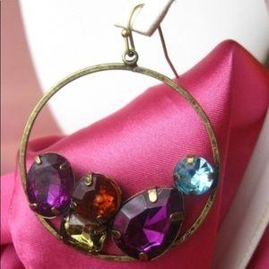 Avon jeweled statement hoop earrings 💎💎💎